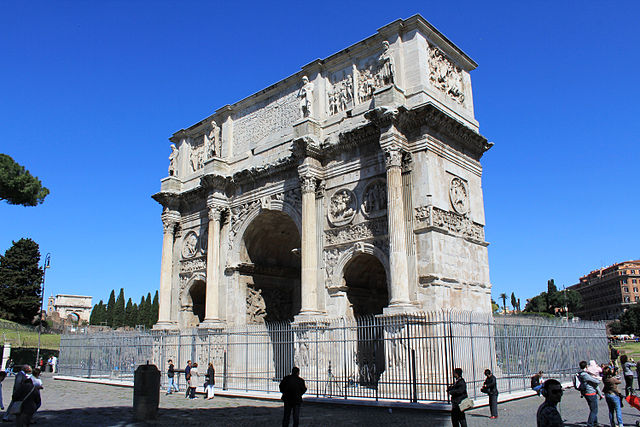Arch of Constantine near of Colosseum, Rome, Ital