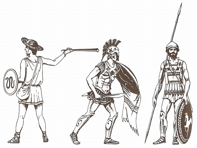 Greek soldiers of Greco–Persian Wars